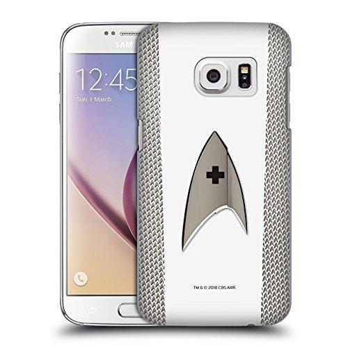 Head Case Designs Licenza Ufficiale Star Trek Discovery Medico Uniforme Cover Dura per Parte Posteriore Compatibile con Samsung Galaxy S7