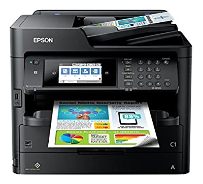 Epson Workforce Pro ET-8700 EcoTank Color All-in-One Supertank Printer with Scanner, Copier and Fax, WiFi & Ethernet Connectivity