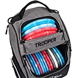 Dynamic Discs Trooper Disc Golf Backpack | Heather Gray | Frisbee Disc Golf Bag with up to a 25 Disc Capacity | Introductory Disc Golf Backpack | Lightweight and Durable