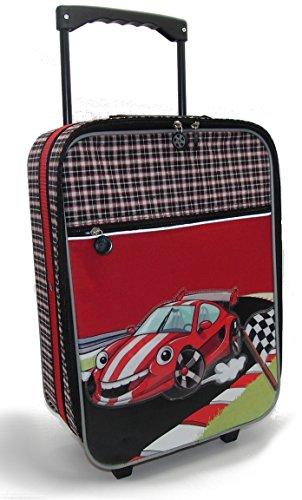 Stefano - Maleta de viaje infantil con diseño de coche de carreras