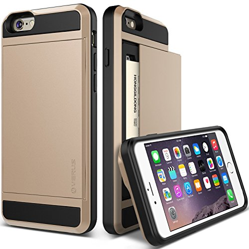 iPhone 6 Plus Case, Verus [Damda Slide][Champagne Gold] - [Card Slot][Drop Protection][Heavy Duty][W...