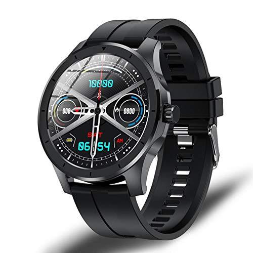 ZRY MX10 Music Smart Watch, Pantalla Redonda Bluetooth Call Watch 512m Local Music Storage IP68 Presión Arterial Impermeable/Monitor de suspensión,B
