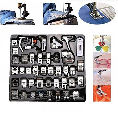 elegantstunning Huishoudelijke naaimachine Presser Voet Kit voor Blind Stitch Darning (eenvoudige Engelse versie)