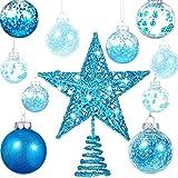 Gejoy 24 Piezas 2.36 Pulgadas Bola de Navidad de Plástico Irrompible Adornos Bolas de...