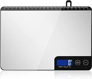 Diyife Balance Cuisine 15 kg, Professionnel Balance de Cuisine Electronique avec Grand Panneau, Balances Alimentaires, Bal...