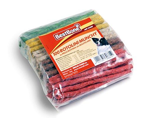 Palitos de colores Munchy 100 unidades, Snack para Perros