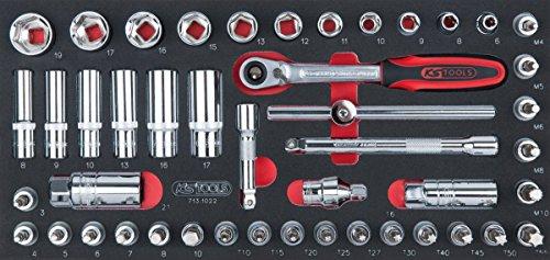 'KS Tools 713.1022Ultimate Modul de DOUILLES/Zubehör 3/846teilig