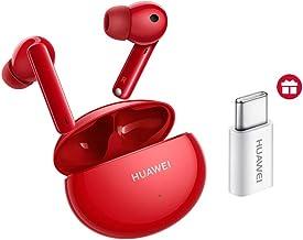 Huawei FreeBuds 4i Bluetooth-hoofdtelefoon, draadloos, met actieve ruisonderdrukking, snel opladen, 22 uur looptijd, rood