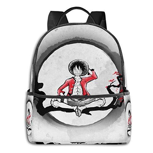 Sombrero de paja para estudiantes piratas, unisex, diseño de dibujos animados, mochila escolar de 36,8 x 30,5 x 12,7 cm