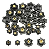 WMYCONGCONG 32 PCS Female Thread Screw On Type Knurled Clamping Nuts Knob Handle M4 M6 M8 M10