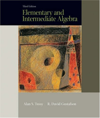 Elementary and Intermediate Algebra (with CD-ROM and iLrn Tutorial) (Available Titles CengageNOW)