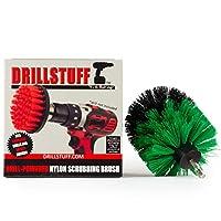 Drillstuff ドリル用ブラシキッチンシンク、パン、ポット、調理器具とクリーニングブラシアタッチメントをドリル フルサイズのドリルブラシ グリーン媒体剛性