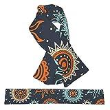 Bufanda de forro polar suave y cálida para el cuello con lazo cruzado, mullida impresión 3D abstracta, patrón tribal de sol, bufandas de invierno para niñas, niños, mujeres y hombres