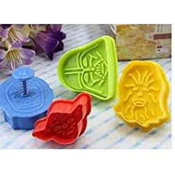 4 pcs Star Wars Cookie Cutters