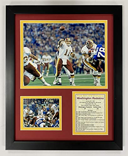 Washington Redskins NFL Double Matted 8x10 Photograph Team Logo and Football Helmet Collage
