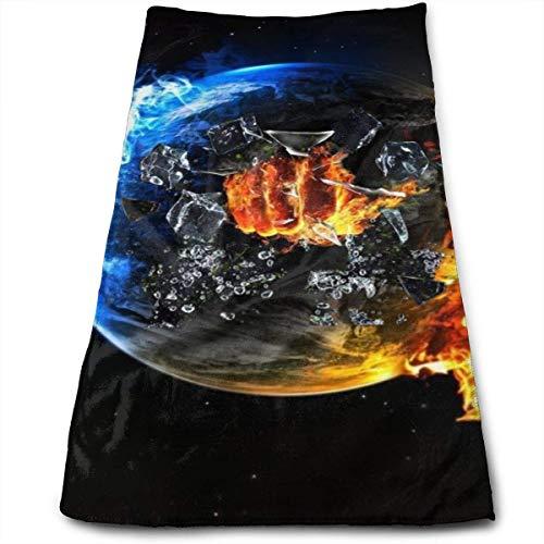 fenrris65 Earth Hero Fireman Wrestling Guest Towel Soft Hand Towels Multipurpose for Bathroom, Hotel, Gym and Spa 12 X 27.5 Inch