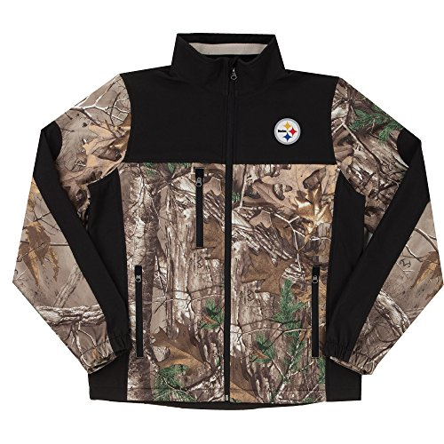 Dunbrooke Apparel NFL Pittsburgh Steelers Hunter Colorblocked Softshell Jacket, Real Tree Camouflage, X-Large
