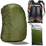 Gryps Waterproof Backpack Rain Cover with Adjustable Anti Slip Buckle Strap & Sliver Coating Reinforced Inner Layer for Camping, Hiking, Traveling, Hunting, Biking and More, 70-80L(Green)