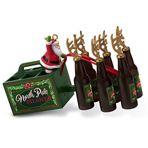 Hallmark Keepsake Christmas Ornament 2018 Year Dated, Santa's Reinbeer Beer