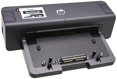 HP 2012 90W Docking Station - Base de conexión para ordenador portátil HP (100-240V, 50/60 Hz, 90W), negro