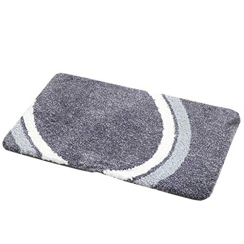 Review Of CarPet Bathroom Door Bathroom Absorbent mat Bedroom Entrance Door Vacuum Door mat (Color :...