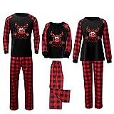 Alueeu Pijamas Navidad para Familias Navideños Ropa de Dormir Ropa de Casa Familia Sleepsuit Calientes Homewear Cálido Mameluco 2022 para Mamá Papá Niños Bebés