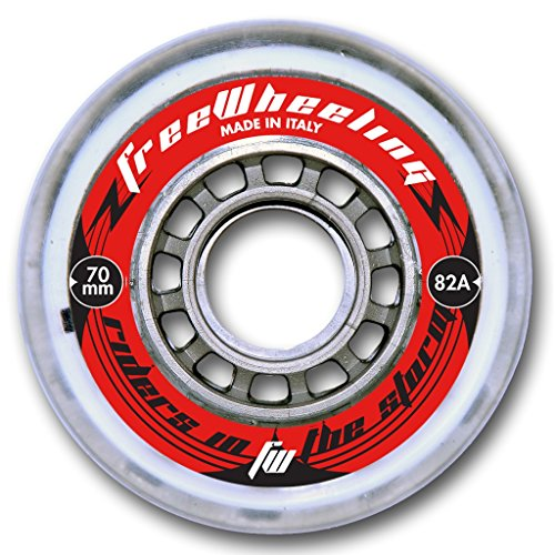 FreeWheeling - Inline-Skates-Komponenten in Silber, Größe 70 mm