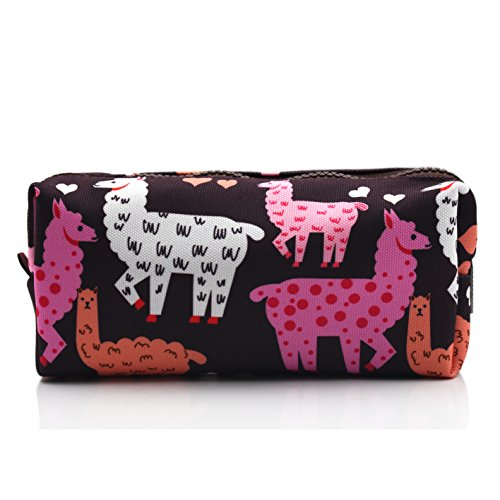 Llama Pencil Case Large Capacity Canvas