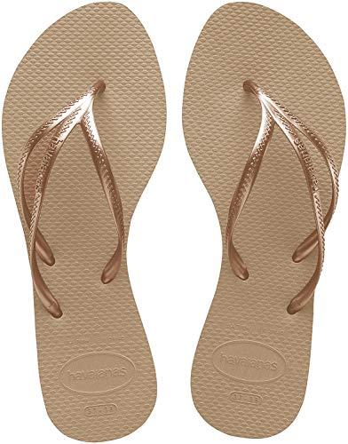 Havaianas Women's Tria Flip Flop Sandal, Rose Gold, 5/6 M US