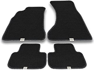 Motliner Floor Mats, Custom Fit with Dual Layered Honeycomb Design for Audi A4 B8 2010-2016. All Weather Heavy Duty Protection for Front and Rear. EVA Material, Easy to Clean.