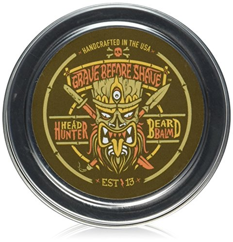 GRAVE BEFORE SHAVE Head Hunter Beard Balm (Tropical summer aroma) (2 oz.) by Grave Before Shave