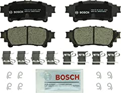 Bosch dedicated engineering to platform specific premium materials, ensuring exceptional stopping power and quiet operation with low dust Quiet operation with rubber core multilayer shim provides increased strength and insulation against noise Advanc...