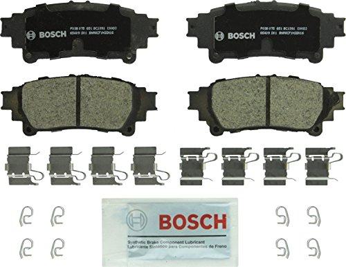 Bosch BC1391 QuietCast Premium Ceramic Disc Brake Pads: Lexus GS200t, GS350, GS450h, GS/IS Turbo, IS200t, IS250, IS300, IS350 Turbo, RC350, RX350, RX450h; Toyota Highlander, Mirai, Prius, Sienna, Rear