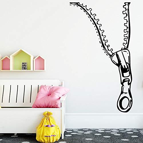 Pegatinas de pared con cremallera de estilo nórdico, sala de estar, decoración mural para habitación de niños, pegatinas de pared A3 M 30x52cm