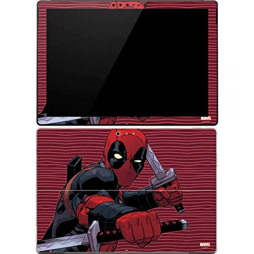 Skinit Decal Tablet Skin Compatible with Surface Pro 4 - Officially Licensed Marvel/Disney Deadpool Dual Wield Design