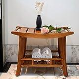 Bagno Panca in legno di teak massiccio 61x 41x 46,5cm