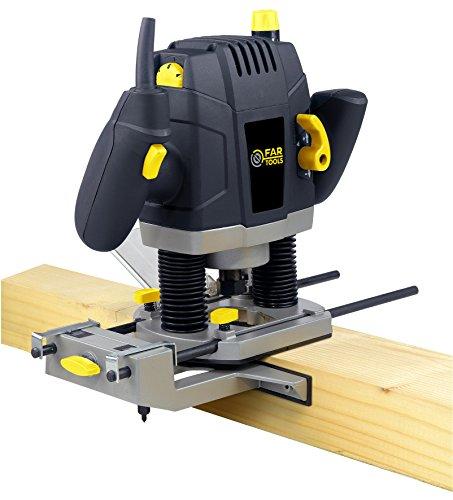 Fartools ER 1300 Fresadora (1300 W, bloqueo del árbol, pinzas compatibles 8/12 mm, velocidad regulable)
