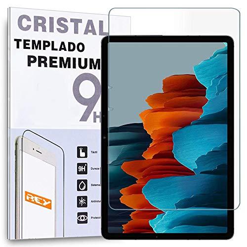 """REY Protector de Pantalla para Tablet Samsung Galaxy Tab S7 4G-WiFi 11"""", Cristal Vidrio Templado Premium"""