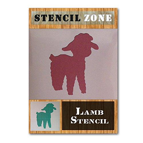 Lamb Farm Animal Mylar Malerei Wand-Kunst-Schablone Hauptdekor DIY Kunst-Handwerk (A4 Größe Stencil - Small)