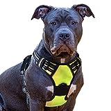 eagloo arnes de perro antitirones cómodo chaleco ajustable correa al cuello y pecho para perros mediano material duradero transpirable con cinta reflectante adaptarse a ejercer externo m/verte