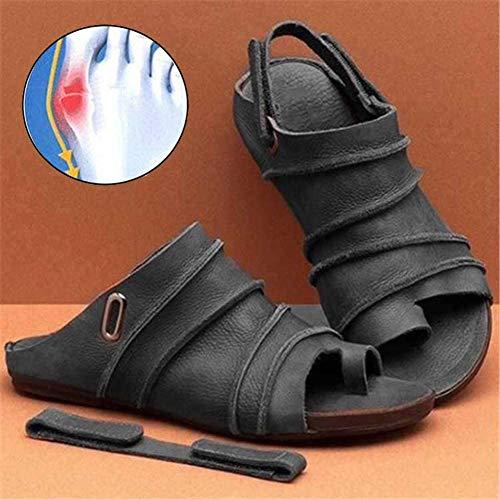 LCCYJ Damen Sandalen Sommer Schuhe Bequeme Big Toe Hallux Valgus Unterstützung Sandale Schuhe Strand Reise Schuhe,03,38
