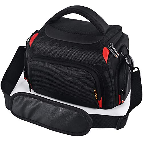FOSOTO Funda resistente a los golpes para cámara DSLR compatible con Canon EOS 4000D 2000D 1300D 250D 750D 80D 7D Nikon D3500 D3400 D5600 D750 Panasonic LUMIX DMC FZ82 FZ72 FZ3