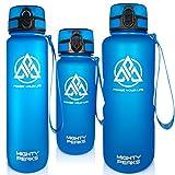 MIGHTY PEAKS Tritan Sport-Trinkflasche 1,5 Liter BPA frei 1500ml 1,5l 1.5l 1.5 Liter Wasserflasche 1,5 Liter Blau, Blue, Sportflasche für Fahrrad, Fitness, Fussball, Kinder, Sport