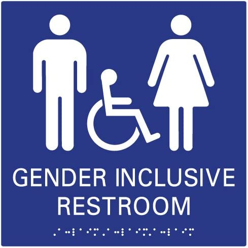STOPSignsAndMore Our shop most popular - service ADA Gender Inclusive with Sign Wall Restroom