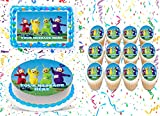 Teletubbies Cake Topper Edible Image Personalized Cupcakes Frosting Sugar Sheet (8' X 11' Cake Topper)