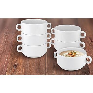 KOVOT Set Of 6 Porcelain Stackable 20-Ounce Bowls