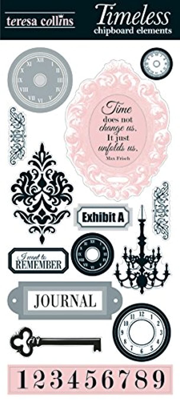Teresa Collins - On the Edge Collection - Die Cut Chipboard - Elements