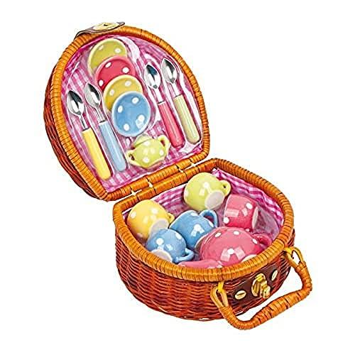 Legler 5313 Picknickkoffer Teeparty, 17-teilig