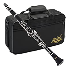 Key of BB with a Boehm 17 key system Beautiful ebonite Body material Nickel-plated keys for a clear and focused tone Robust contoured carrying case for quick and easy transportation Included accessories: Carrying Case, one Rico reed 2.5, cleaning Clo...