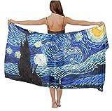 Swimwear Cover up Beach Sarong Van Gogh Starry Night Wrap Scarf skirt gift